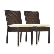 Jersey Stacking Dining Side Chair with Cushion (Set of 2)
