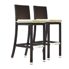 "Crecent 30.5"" Bar Stool with Cushion (Set of 2)"