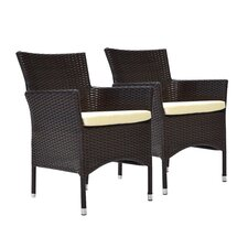 Bora Dining Arm Chair with Cushion (Set of 2)