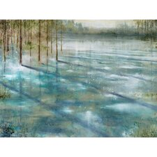Water Trees Painting Print on Wrapped Canvas