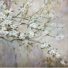 White Elegance by Carson Painting Print on Wrapped Canvas