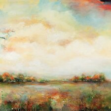 'Open Sky' by Karen Hale Framed Painting Print on Wrapped Canvas