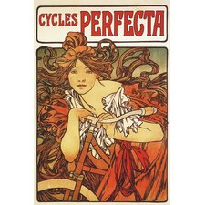 Cycles Perfecta by Alphonse Mucha Vintage Advertisement on Wrapped Canvas