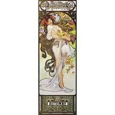 Automne by Alphonse Mucha Painting Print on Wrapped Canvas