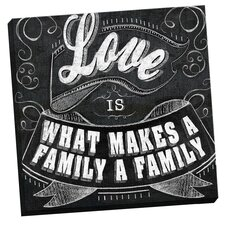 What Makes a Family by IHD Studio Chalkboard Textual Art on Wrapped Canvas