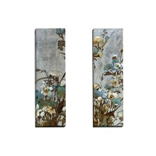 Floral in Silver I by Citrine 2 Piece Painting Print on Wrapped Canvas Set