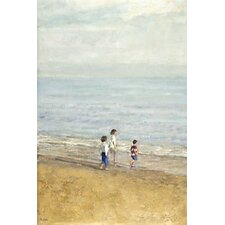 Games On The Beach by Alicia Grau Painting Print on Wrapped Canvas
