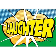 Pop Laughter 2 by IHD Studio Textual Art on Wrapped Canvas