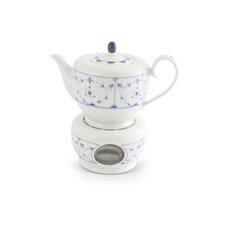 2-tlg. Teekanne / Stövchen-Set Atlantis