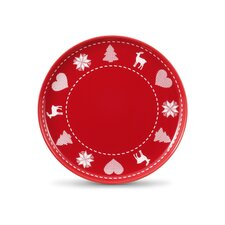 "Frühstücksteller / Jumbo-Untertasse ""Happymix Weihnachten Rot"""