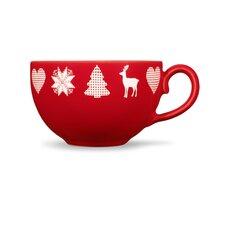 Kaffee-Obertasse Happymix Weihnachten Rot