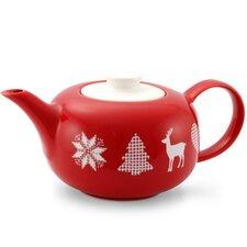 1,25 L Teekanne Happymix Weihnachten Rot