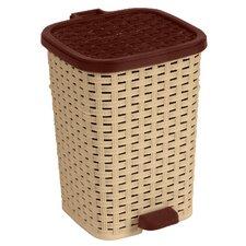 1.6-Gal. Rattan Compact Trash Bin