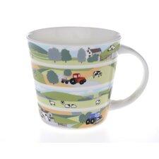 10cm Fine Bone China Country Side Mug