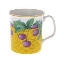 Crown Regal 10cm Fine Bone China Cherry Fruit Basket Mug