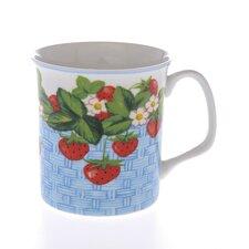 Crown Regal 10cm Fine Bone China Strawberry Fruit Basket Mug