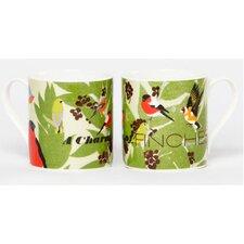 Woop Studios 10cm Fine Bone China A Charm of Finches Mug