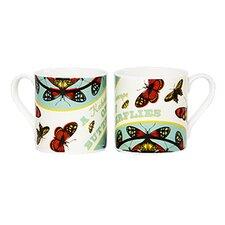 Woop Studios 10cm Fine Bone China A Kaleidoscope of Butterflies Mug
