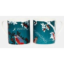 Woop Studios 10cm Fine Bone China A Watch of Nightingales Mug
