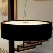 Plis 3 Light Drum Foyer Pendant