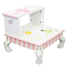 Princess and Frog 2-Step MDF Step Stool with 200 lb. Load Capacity