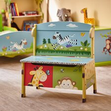 Sunny Safari Kids Bench with Storage Compartment