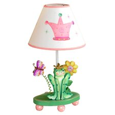 """Princess and Frog 17"""" H Table Lamp with Empire Shade"""