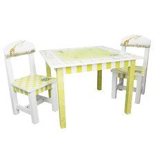Alphabet Kids 3 Piece Table and Chair Set