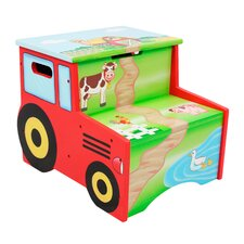 Happy Farm Kids Stool with Storage Compartment