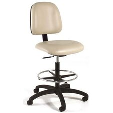 Height Adjustable Laboratory Stool with Seat and Back Tilt