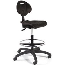 Height Adjustable Self Skin Laboratory Stool with Seat and Back Tilt