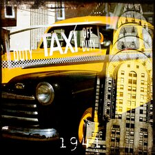 Yellow 1941 Graphic Art on Canvas