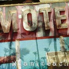 Classic Miami Beach Motel Graphic Art on Canvas