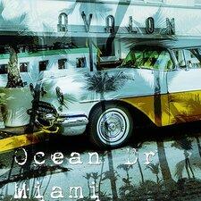 Ocean Drive Miami Heat Graphic Art on Canvas