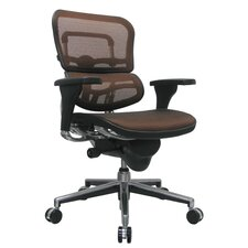 Ergohuman Mid-Back Mesh Chair with Arms