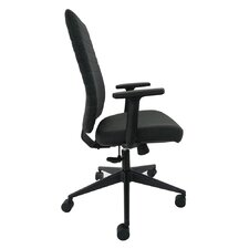Frasso Mid-Back Leather Executive Office Chair With Tilt Lock