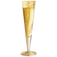 Champagnerglas Champus mit Stoffserviette 0.2 L