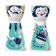 2-tlg. Salz- und Pfefferstreuer-Set Mr. Salt & Mrs. Pepper