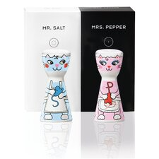 2-tlg. Salz- und Pfefferstreuer -Set Mr. Salt & Mrs. Pepper