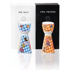 2-tlg. 2-tlg. Salz- und Pfefferstreuer-Set Mr. Salt & Mrs. Pepper