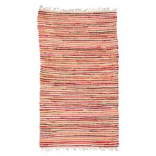 Rosalyn Red Multi Striped Area Rug