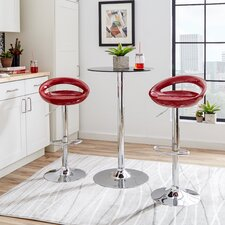 Lily Adjustable Height Swivel Bar Stool
