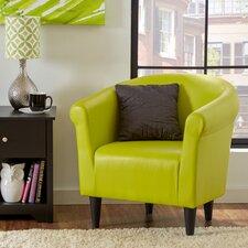 Savannah Faux Leather Barrel Chair
