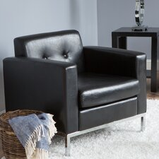 Newman Faux Leather Arm Chair
