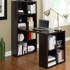 Kayla Writing Desk with Bookcase