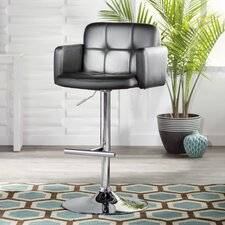 Penelope Adjustable Height Swivel Bar Stool with Cushion