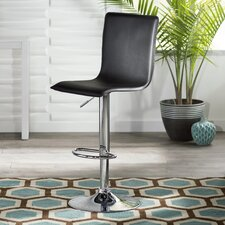Olivia Adjustable Height Swivel Bar Stool with Cushion