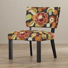 Kaitlyn Floral Print Fabric Slipper Chair
