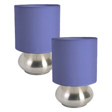 "Ariana 9.2"" H Table Lamp with Drum Shade (Set of 2)"
