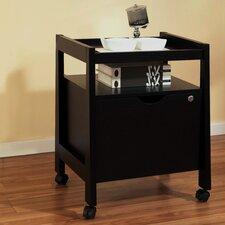 Felicia 1 Drawer Mobile Modern Equipment File Cabinet